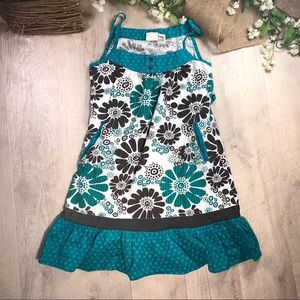 O'Neill tank top sz small teal with flowers